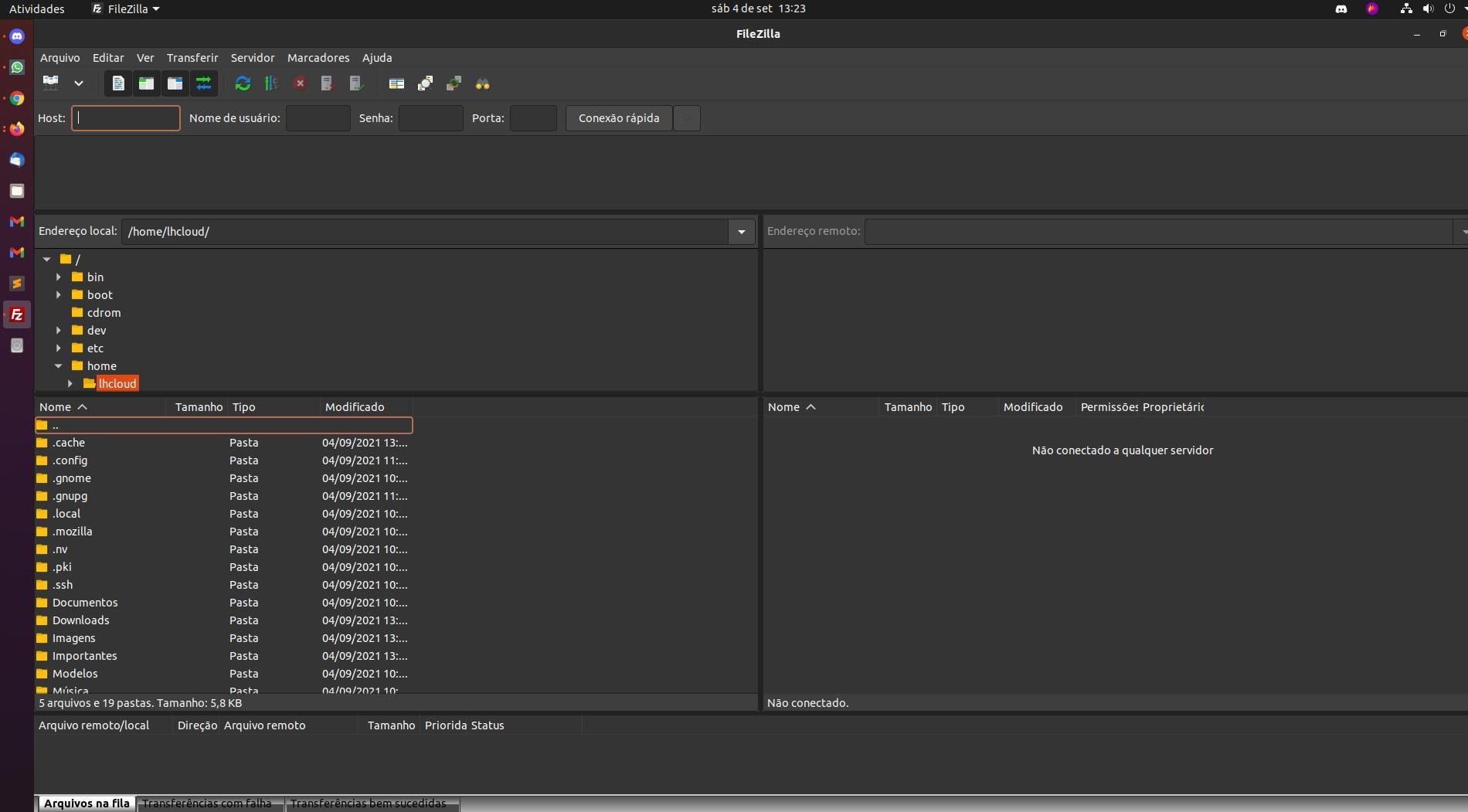 Como instalar o cliente FTP FileZilla no Ubuntu 20.04 LTS